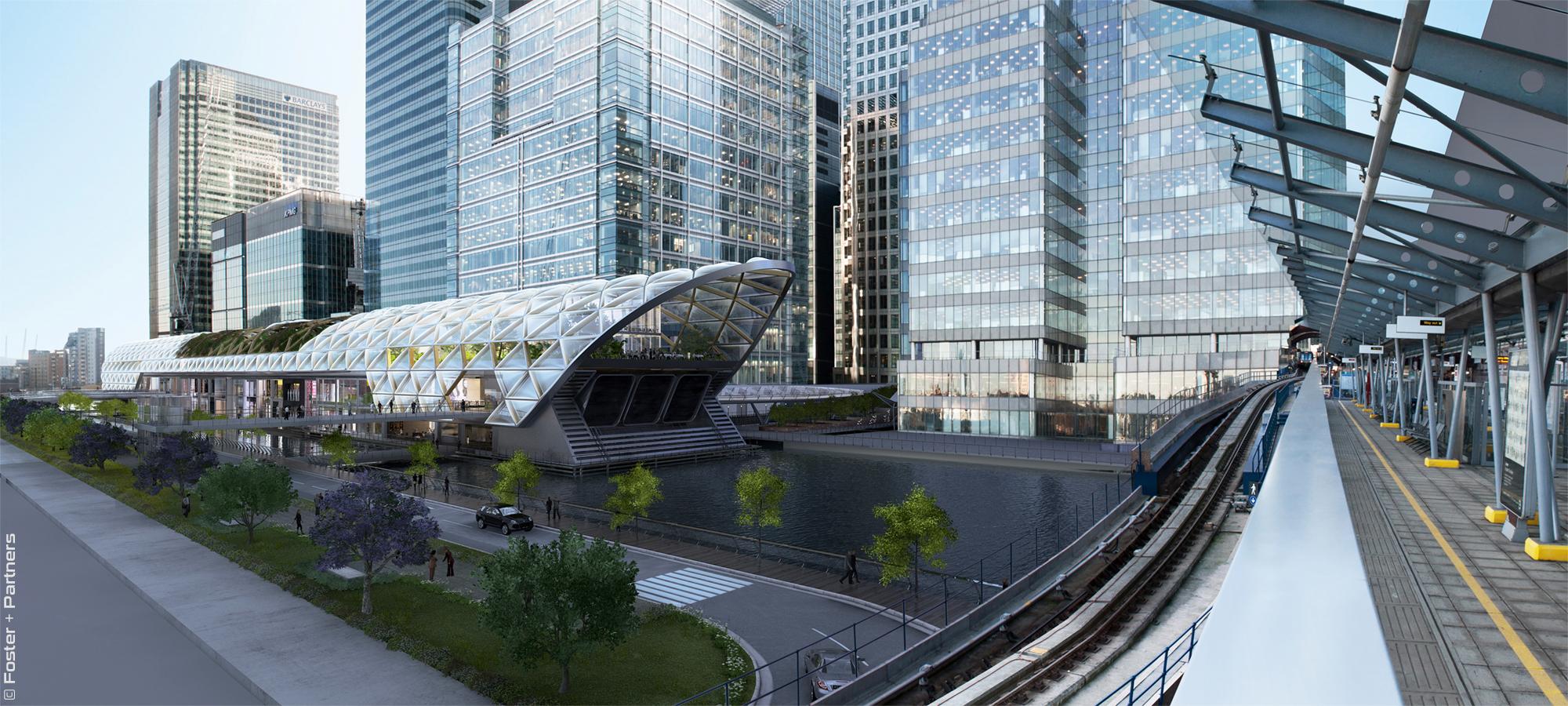 Crossrail Station Canary Wharf